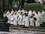 Recital de villancicos de la Escolanía del Valle de los Caídos en El Escorial y encuentro con Mons. Frisina