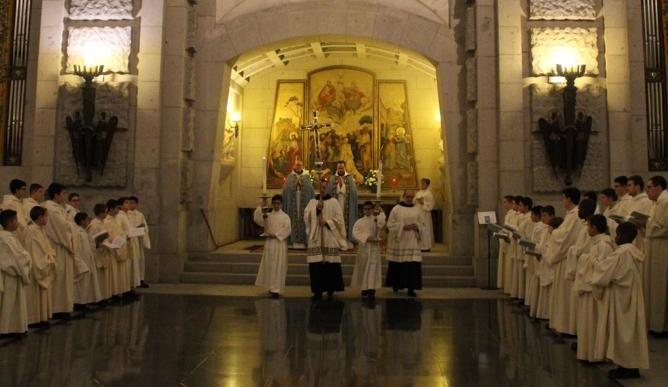 Fiesta de la Inmaculada Concepción en la Escolanía del Valle de los Caídos